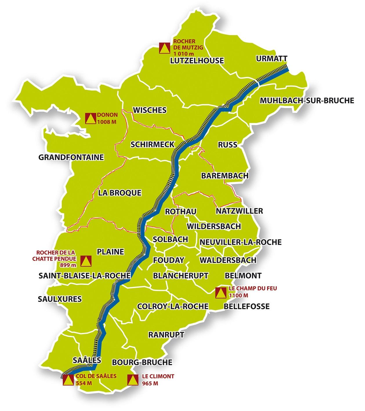 Carte Schirmeck Alsace.Chiffres Cles